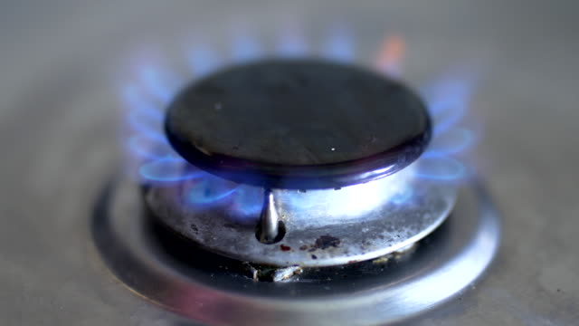 gas cooker ring ignites 2 - gas stove burner stock videos and b-roll footage