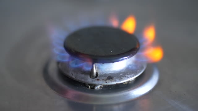 Gas Cooker Ring Ignites in Slow Motion 2