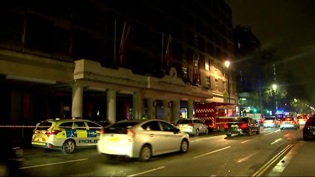 gas explosion at hyatt regency hotel in london england london the churchill hyatt regency hotel ext debris in street national grid van and gas... - brigade stock videos and b-roll footage