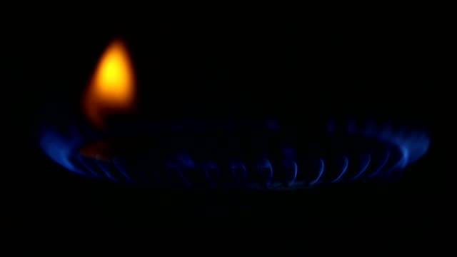Gas flame close-up