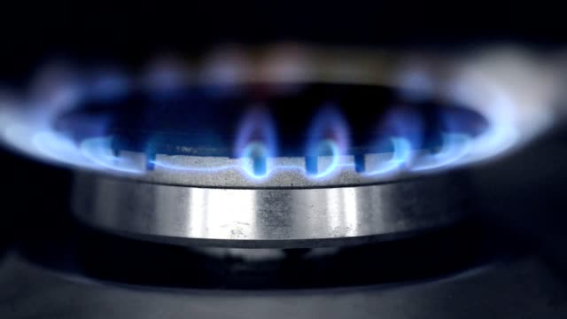 gas hob, in clip gas on, burned, gas off - still life stock videos and b-roll footage
