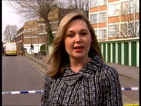 gas leak in hammersmith block of flats england london hammersmith ext reporter to camera - itv london lunchtime news stock-videos und b-roll-filmmaterial