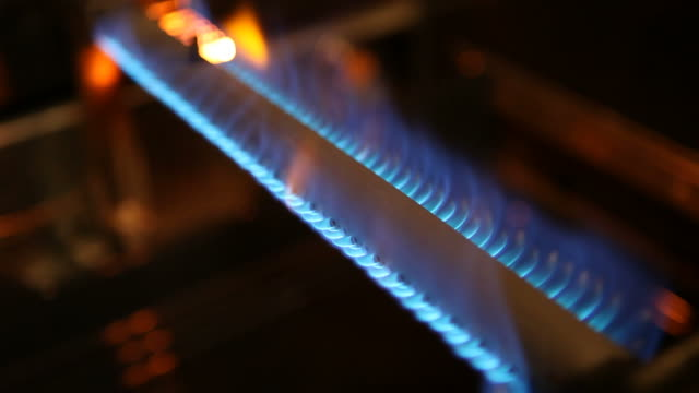 gas oven burner ignites and shuts off - flame stock videos & royalty-free footage