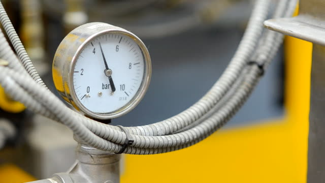 gas pressure gauge isn't normal - gas pipe stock videos and b-roll footage