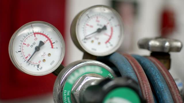 gas pressure gauge - physical pressure stock videos & royalty-free footage