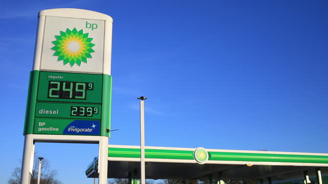 gas prices at bp gas station in louisville, kentucky, u.s., on friday, january 29, 2021. - service stock videos & royalty-free footage