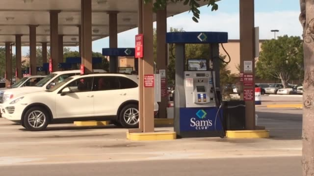 gas prices in fort myers florida drop below the national average of $2 per gallon - fort myers beach stock videos & royalty-free footage