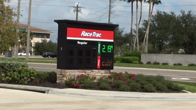 gas prices in fort myers florida drop below the national average of $2 per gallon - fort myer stock videos and b-roll footage