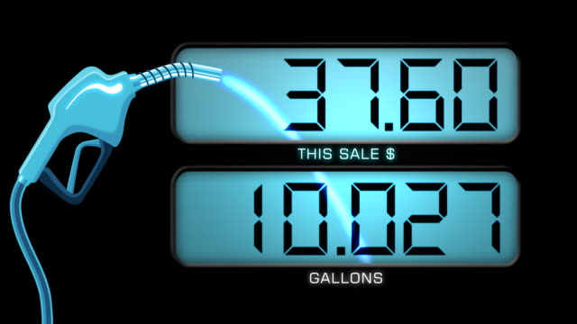 gas pump animation & counter - hd - price tag stock videos & royalty-free footage