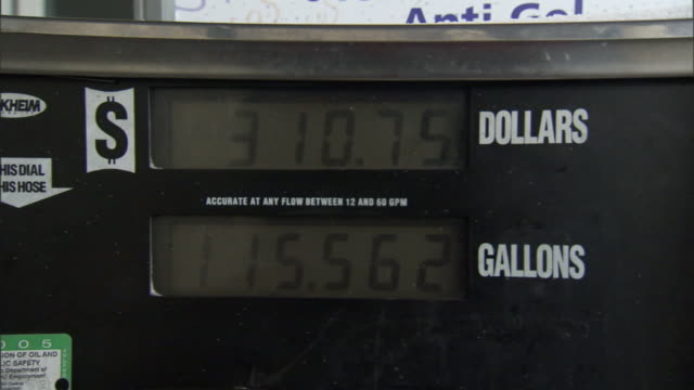 a gas pump displays the price of a gas sale. - currency symbol stock videos & royalty-free footage