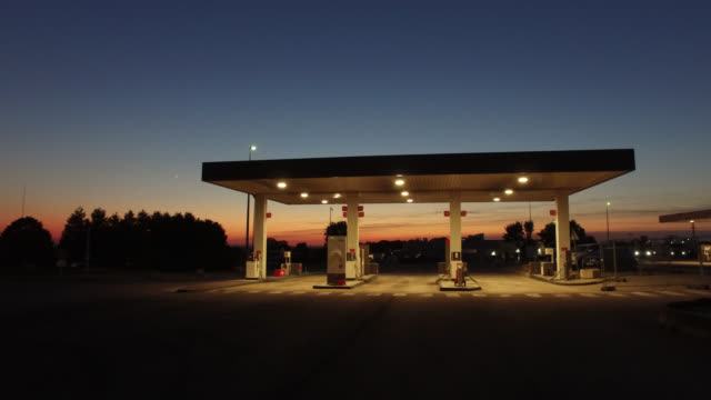 gas station at night - oil industry stock videos & royalty-free footage