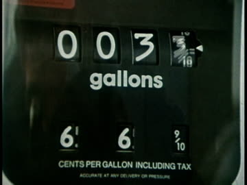 1977 montage gas station during the oil embargo / usa - petrol stock videos & royalty-free footage