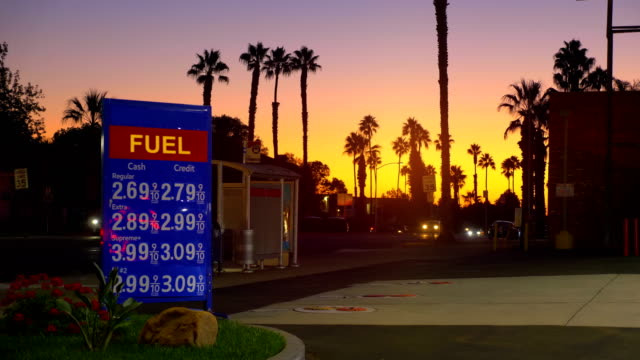 Gas station in California in 4K