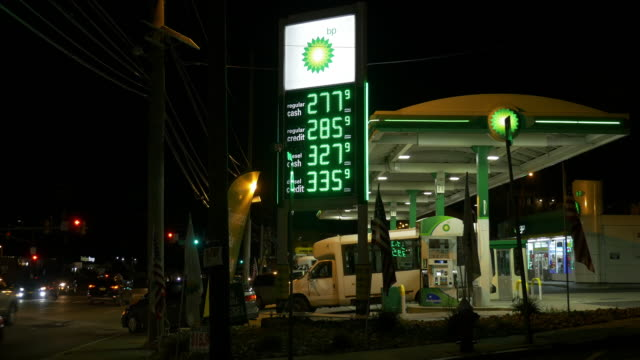 stockvideo's en b-roll-footage met bp gas station in new jersey - bp