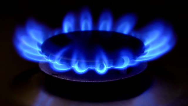 gas stove - close up (hd 1080) - stove stock videos & royalty-free footage