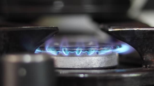 gas stove flames - cooking pan stock videos & royalty-free footage