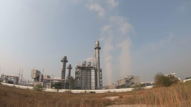 Gas turbine electric power plant time lape