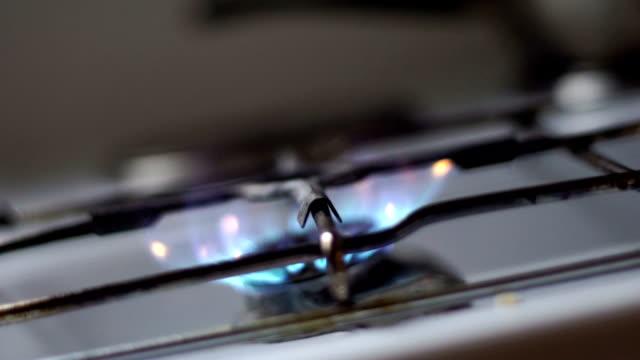 ガス - ブンセン灯点の映像素材/bロール