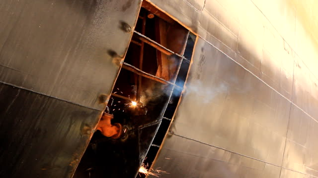 hd: gas welding - warship stock videos & royalty-free footage