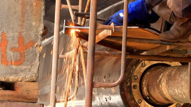 hd: gas welding - warship stock videos & royalty-free footage