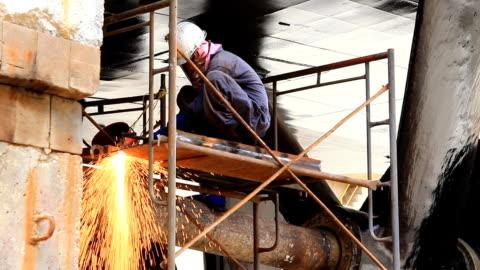 hd: gas welding - welding stock videos & royalty-free footage