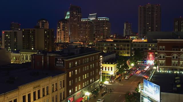 T/L WS HA ZO Gaslamp Quarter, day to night / San Diego, California, USA