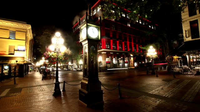 gastown steam clock, vancouver, canada - vancouver canada stock videos and b-roll footage