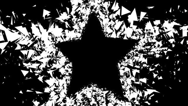 vidéos et rushes de de star-porte, en gros, outflow, noir (boucle - auréole