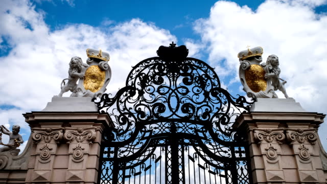 gate of belvedere time lapse - belvedere palace vienna stock videos & royalty-free footage
