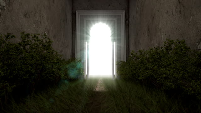 gate of heaven - exit sign stock videos & royalty-free footage