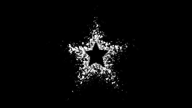 vídeos de stock, filmes e b-roll de de estrelas-portão, outflow, preto (arco - acabamento mate