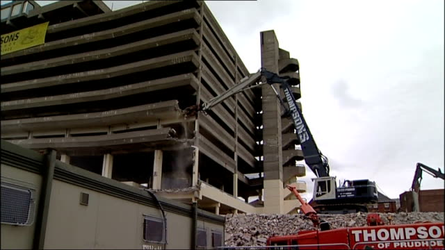 Gateshead carpark featured in 1970s film Get Carter to be demolished Tyne and Wear Gateshead Multistorey carpark being demolished