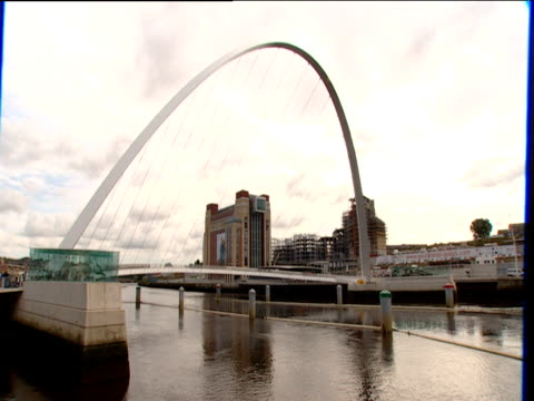 gateshead millennium bridge over the tyne river - gateshead stock videos and b-roll footage