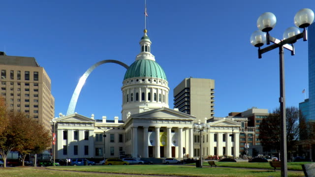 gateway arch - st louis, missouri - st. louis missouri stock videos & royalty-free footage