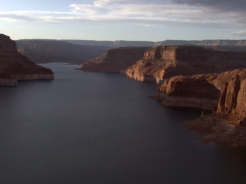gathering stormclouds over lake powell - artbeats stock videos & royalty-free footage