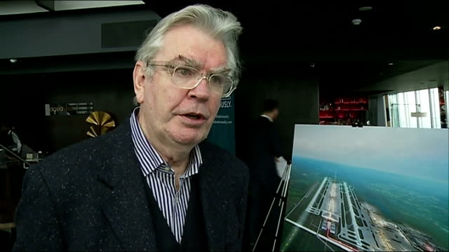 gatwick airport plans for second runway sir terry farrell interview sot - terry farrell stock videos and b-roll footage