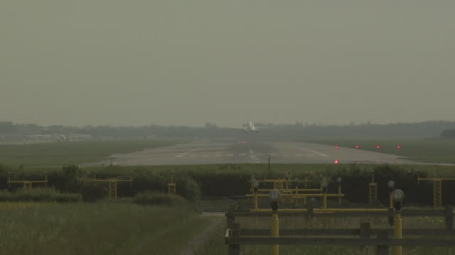 gatwick airport, uk, aircraft taking off, virgin atlantic boeing 747 taxiing to runway - gatwick airport stock videos & royalty-free footage