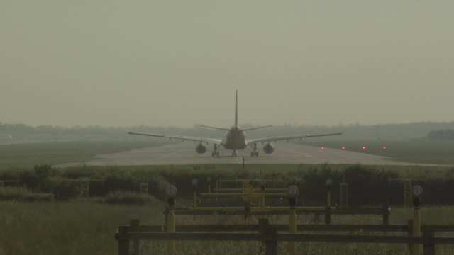 gatwick arport, airbus a330 taking off, uk - gatwick airport stock videos & royalty-free footage