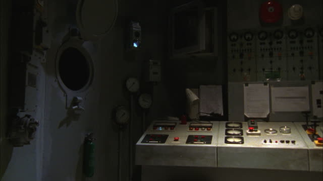 gauges and electronic devices fill a ship's control room. - control room stock videos & royalty-free footage