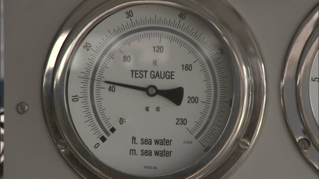 gauges indicate water and sea levels. - view into land stock videos & royalty-free footage