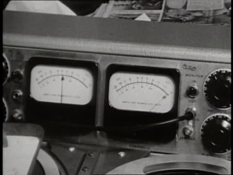 gauges monitor radio waves from outer space a on control panel. - radio wave stock videos & royalty-free footage