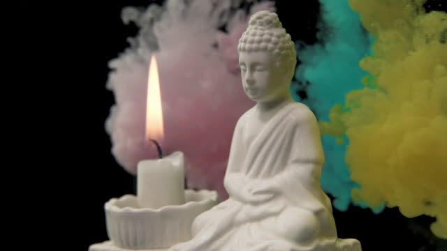 gautama buddha candle and ink - food coloring stock videos and b-roll footage