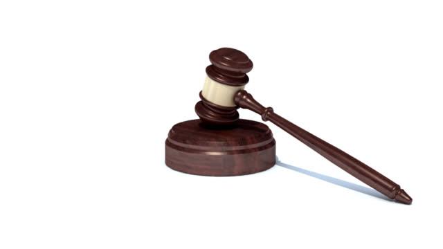 gavel hit animation - legislation stock videos & royalty-free footage
