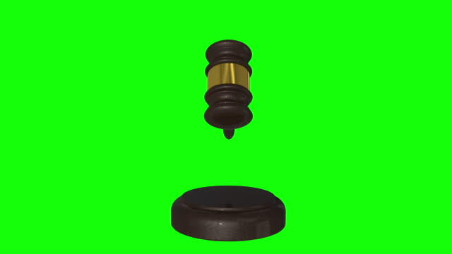 gavel, judge hammer, decision mallet 3d animation green screen and alpha - justice concept stock videos & royalty-free footage