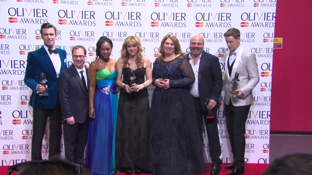 BROLL Gavin Creel Stephen Ashfield and Casey Nicholaw at The Laurence Olivier Awards with MasterCard on April 13 2014 in London England