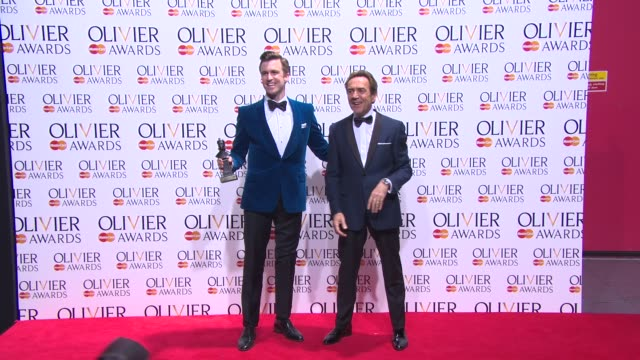 BROLL Gavin Creel Stephen Ashfield and Robert Lindsay at The Laurence Olivier Awards with MasterCard on April 13 2014 in London England