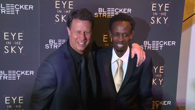 gavin hood barkhad abdi at eye in the sky new york premiere at amc loews lincoln square 13 theater on march 9 2016 in new york city - gavin hood stock videos and b-roll footage