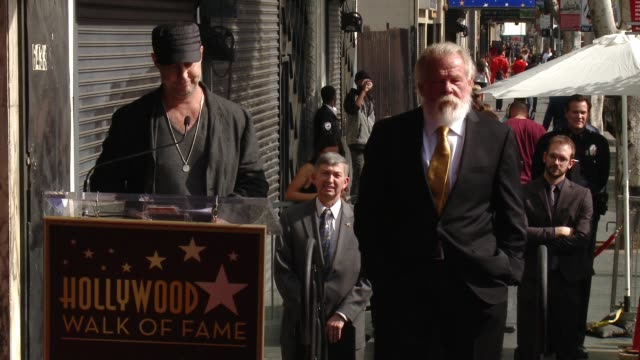 gavin o'connor at nick nolte honored with a star on the hollywood walk of fame on november 20, 2017 in hollywood, california. - nick nolte stock-videos und b-roll-filmmaterial