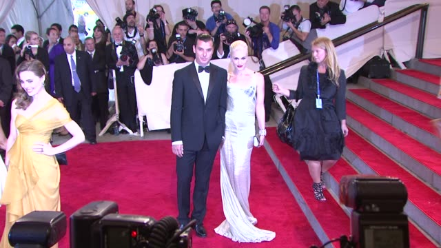 gavin rossdale and gwen stefani at the 'american woman: fashioning a national identity' met gala - arrivals at new york ny. - gwen stefani stock videos & royalty-free footage