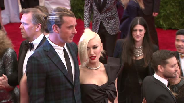 Gavin Rossdale and Gwen Stefani PUNK Chaos To Couture Costume Institute Gala at Metropolitan Museum of Art on May 06 2013 in New York New York